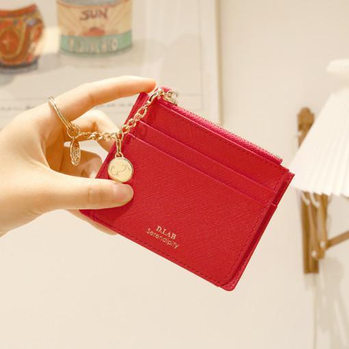 디랩 피오 사피아노 여성 심플 카드 지갑 - 4color(+별자리키링 증정)