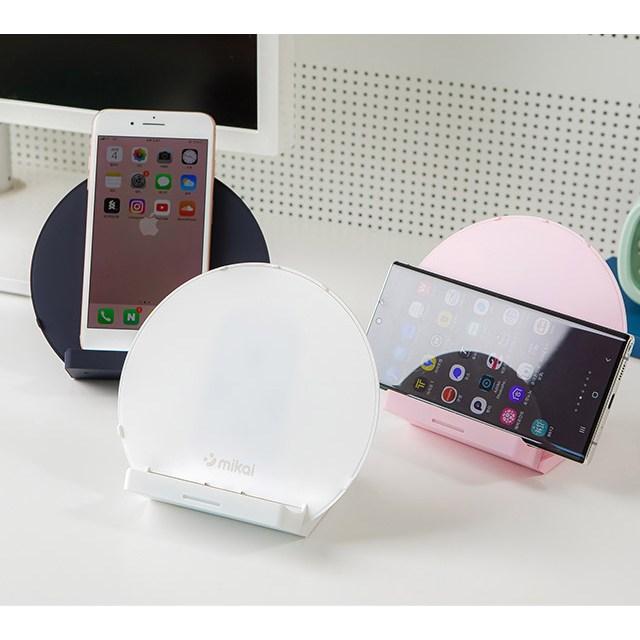미카이 스마트폰 고속 무선충전 UV 자외선 살균기 소독기 ss300 [18W 고속 어댑터 증정], 크리미 화이트