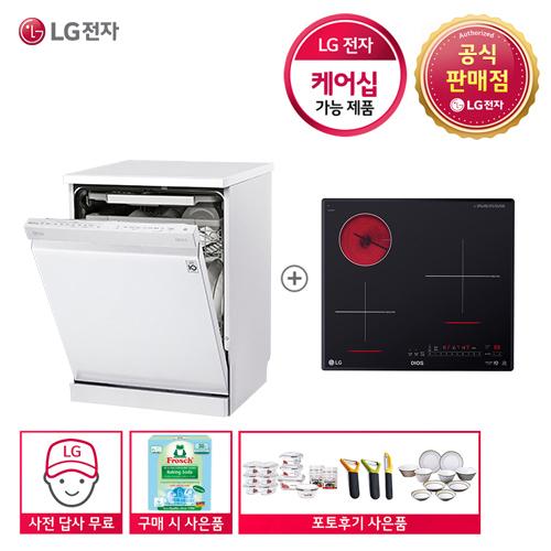 LG 디오스 G DFB22W+BEY3GTU 식기세척기+전기레인지 세트