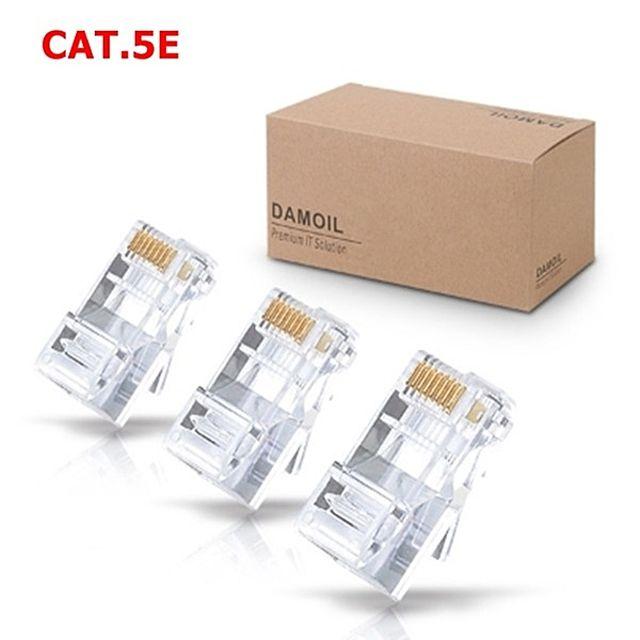 SH+ DA-L CAT.5E 8P8C RJ-45 투명 플러그 100개-1BOX WH3325 SHC:+23337.965, SH+ 본상품선택