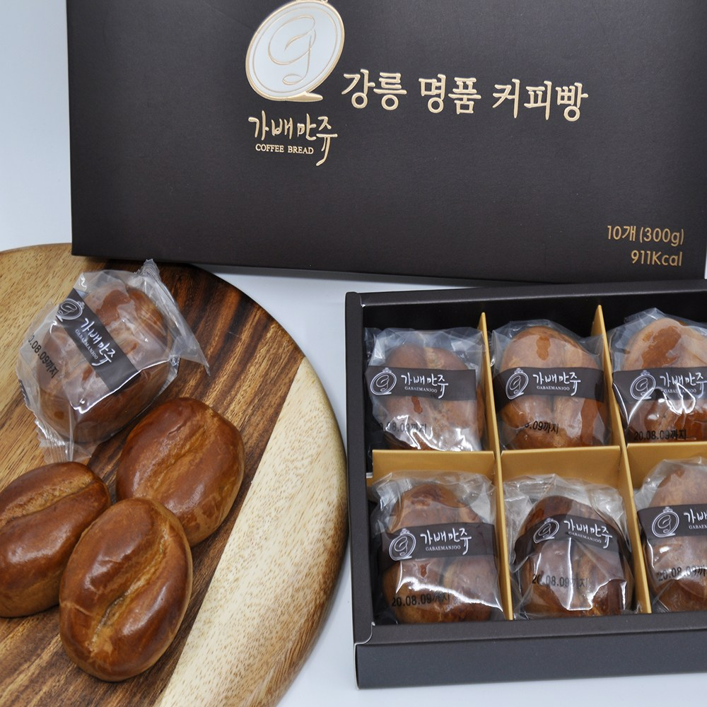 [필링스마켓] 달달한 강릉명물 커피콩빵 가배만쥬, 20개