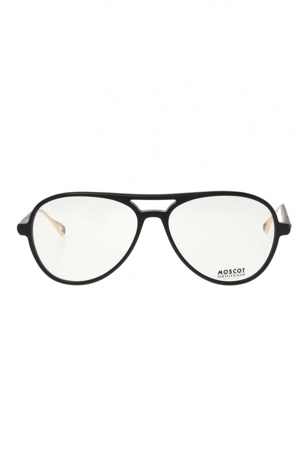Moscot 'Korva' optical glasses KORVA 0-1329-01 MATTE BLACK GOLD 150불 이상 주문시 부가세 별도