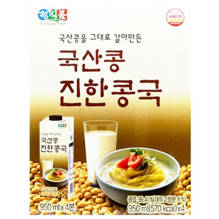 정식품 국산콩 진한콩국물 950ML x 4개입 3800ml, 1박스