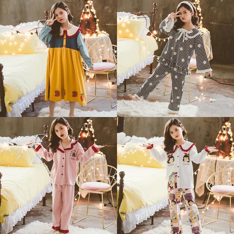 공주옷 여아 키즈 홈웨어 파자마 잠옷 아동 주니어 어린이 초등학생