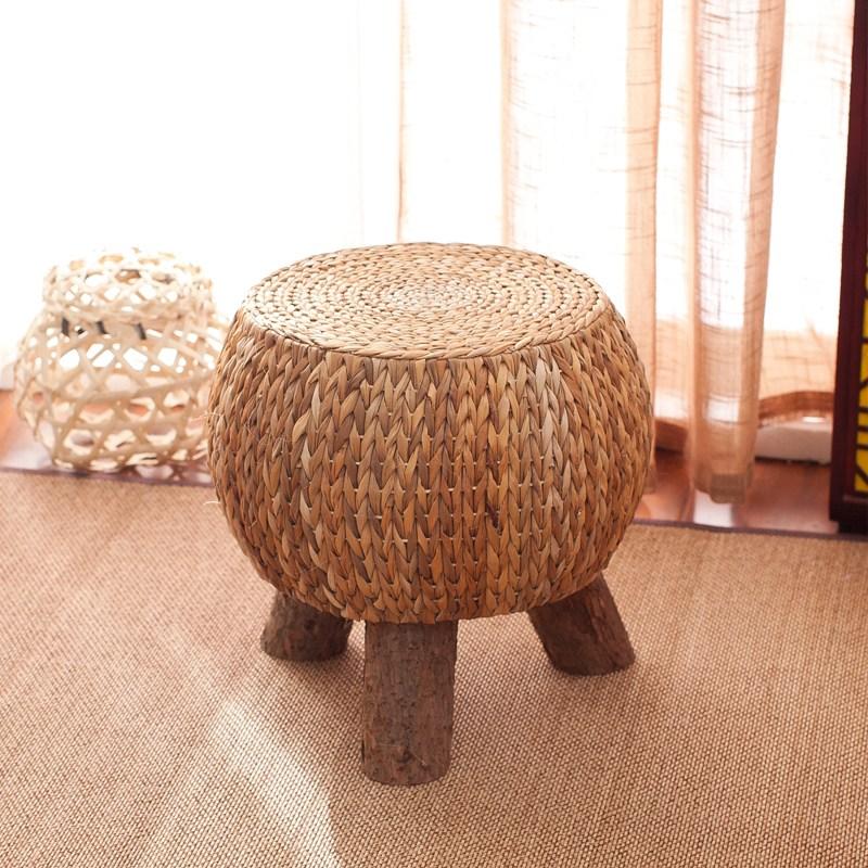 라탄의자 미니 원형라탄의자 라탄스툴 밀짚 등나무 인테리어의자, 선택5