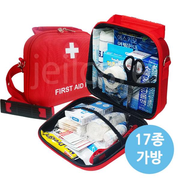 만타 휴대용 구급가방 약품세트 17종, 1개 (POP 67699922)