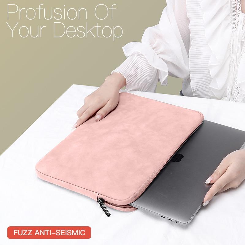 노트북 슬리브 케이스 13 14 15.4 15.6 인치 HP 델 노트북 가방 운반 가방 맥북 에어 프로 13.3 남성 여성을위한 충격 방지 케이스|Laptop Bags & Ca, 1개, 14 15.4inch, ORANGE SET