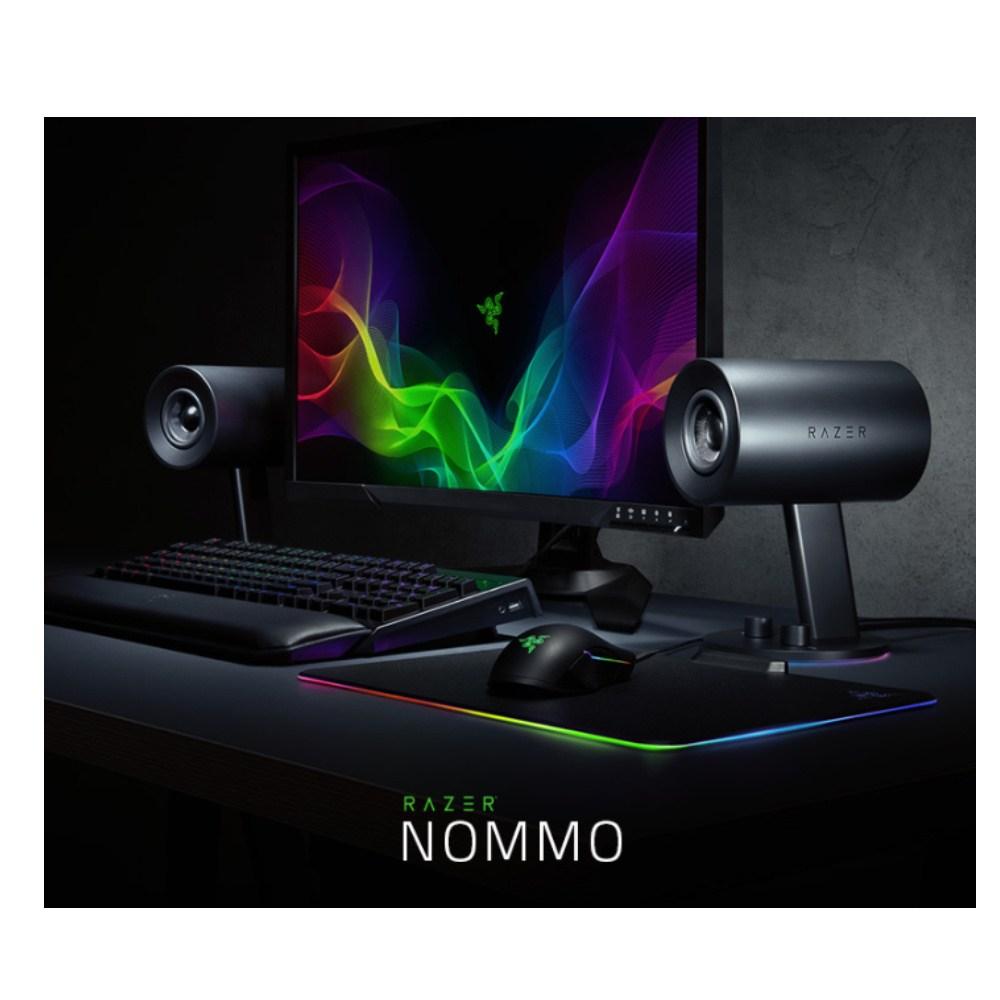 Razer 레이저 놈모크로마 스피커 (Razer Nommo Chroma), 블랙, 레이저 놈모