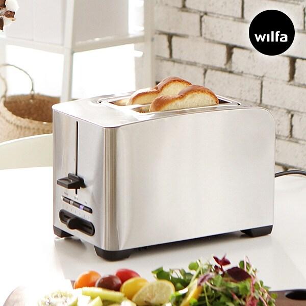 [신세계TV쇼핑][윌파] 스테인레스 토스터기 TO-1S (7단계굽기조절/재가열/해동기능/베이글), 단일상품