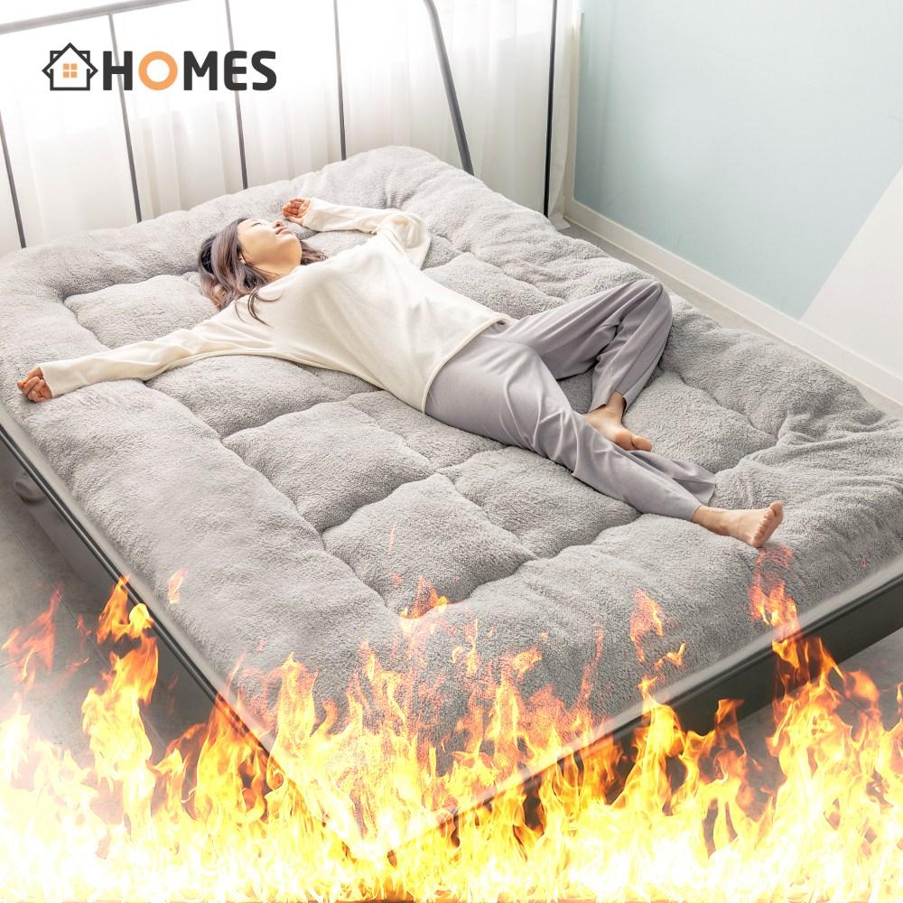 한파대비 자가 발열 침대 패드 매트리스 토퍼 웜 겨울 매트 슈퍼싱글 퀸
