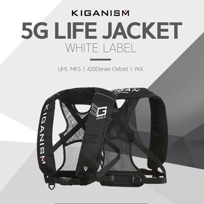 [KIGANISM] 5G 자동팽창식 구명조끼(블랙 레드) 기간이즘 라이프자켓, 블랙