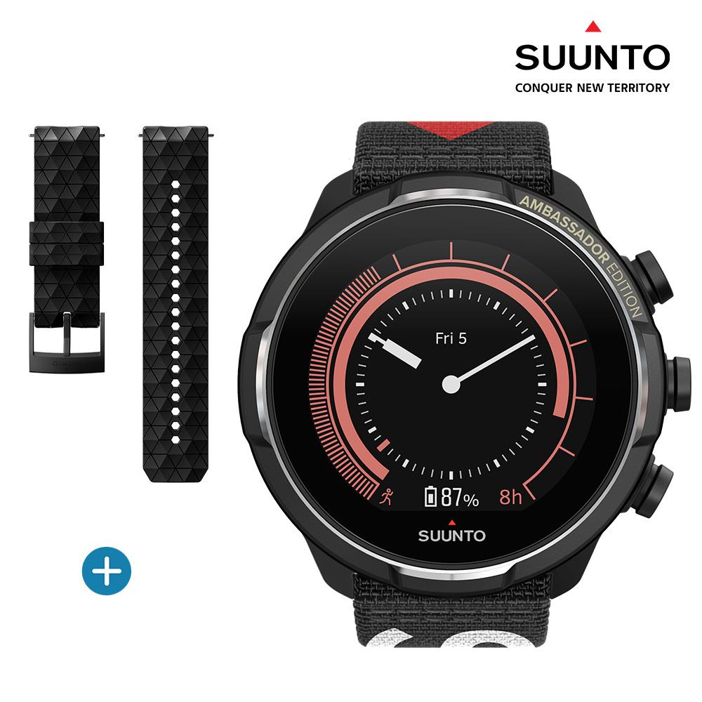 순토9 스마트워치 바로 티타늄 앰배서더 에디션 SS050438000 실리콘 추가구성