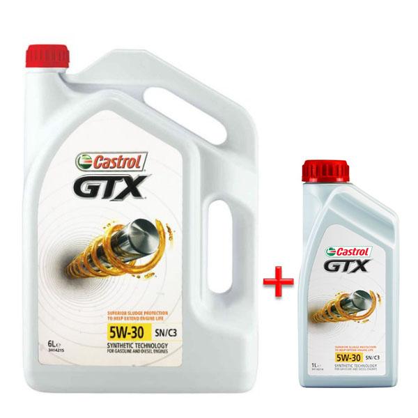 캐스트롤 GTX SN C3 5W30 6L 1개 +1L 디젤 엔진오일, ◆ 캐 GTX 5W30 6L 1개 + 1L ◆1개◆