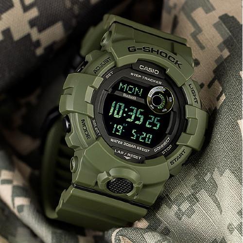 카시오 지샥 정품 GBD-800UC-3E 군인시계 스포츠시계 AS가능