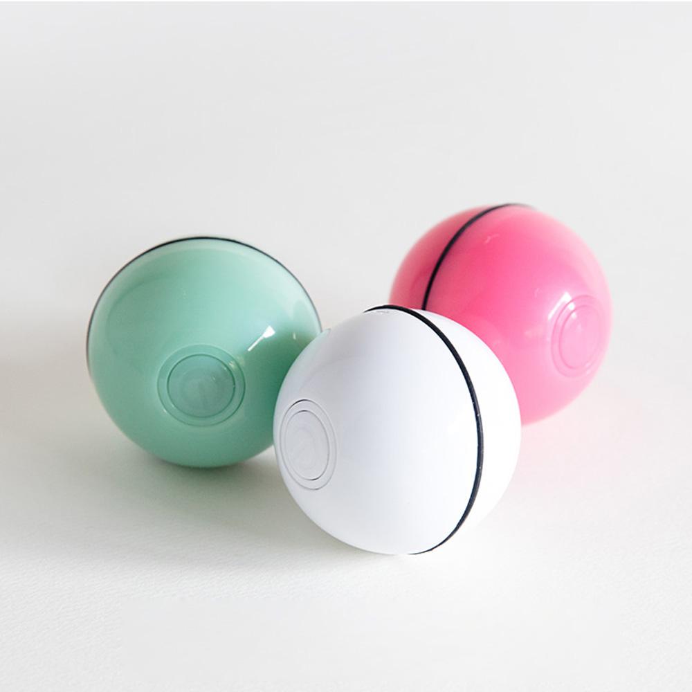 해밀펫 스마트 자동 롤링볼 90MIN 고양이 강아지 애견장난감 LED 캣볼 매직볼 충전식 움직이는 장난감, 민트그린
