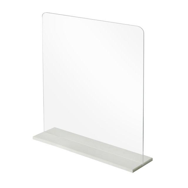 [천삼백케이] [아이디스타] 투명 아크릴 가림판 학교 사무실 400 x 400 mm, 단품