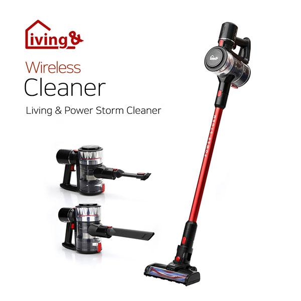 [청소용품] 리빙앤 WIRELESS CLEANER (분리형 고용량 배터리 / 원터치 버튼 먼지통 / 물세척이 가능한 먼지통&필터), LNPS-LV12 (POP 5465758359)