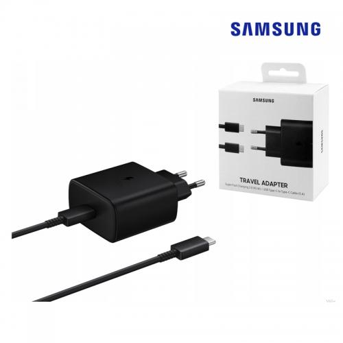 삼성 EP-TA845 PPS 45W 고속 충전기 케이블 패키지, 블랙