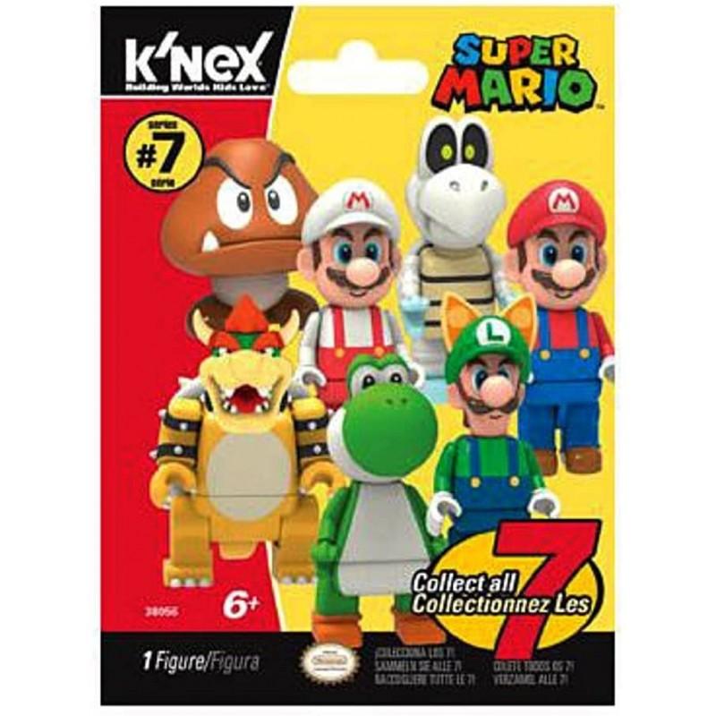 레고 슈퍼 마리오 KNEX 슈퍼 마리오 월드 오브 닌텐도 슈퍼 마리오 시리즈 7 미스터리 팩 # 38056, 단일옵션