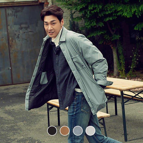 [현대백화점][지오다노] 070910 남 셔츠타입 경량 패딩 자켓