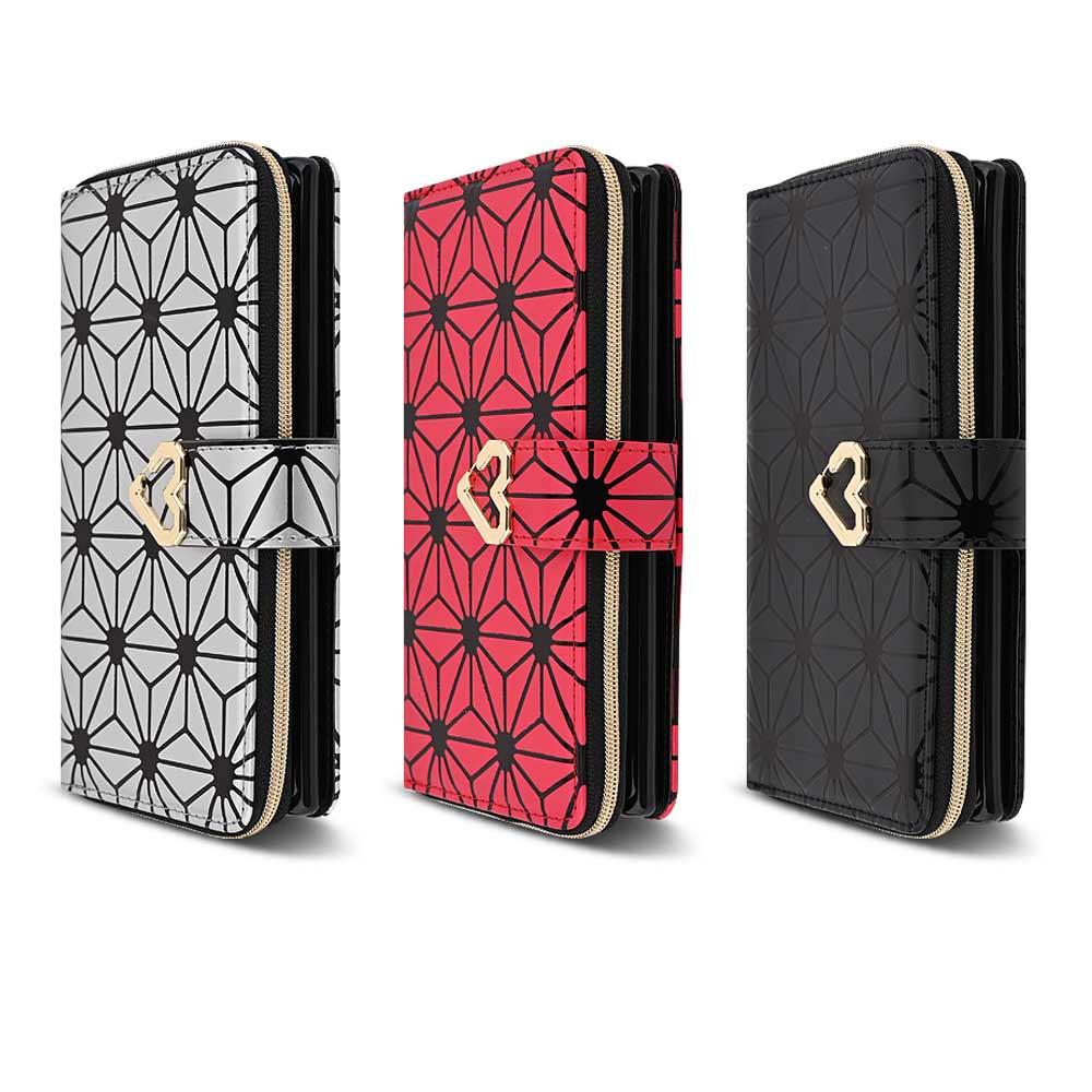 플라잉 엘지Q51 패턴 하트 지퍼지갑 다이어리 휴대폰 케이스