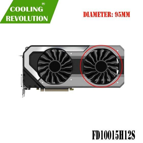 95MM GAA8S2U FD10015H12S 팬 GTX1080T GTX1080 GPU 카드 쿨러 Palit GTX 1080 Ti 1080 GameRock 카드 교체, 01 Clockwise