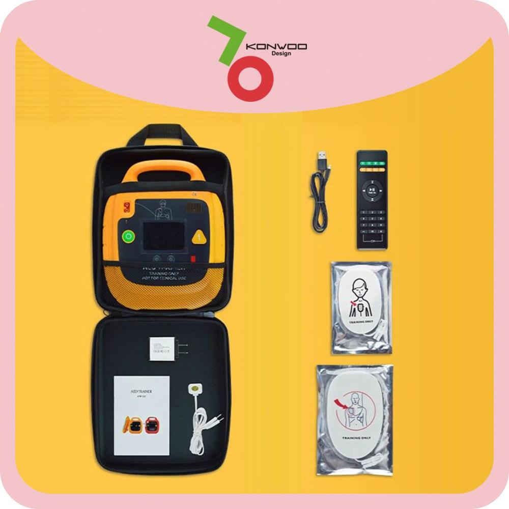 심폐소생술애니 심장충격기 제세동기 CPR교육용 AED에이티엠 응급구조, 1개