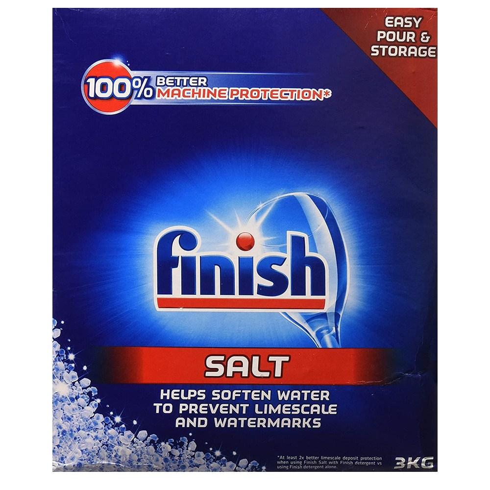 Finish Dishwasher Water Softener Salt for Bosch 6.6 lbs 보쉬용 식기세척기 연수제 소금 3kg, 1set