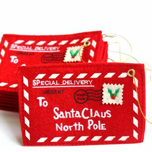 산타 클로스 북극 크리스마스 봉투 펜던트 트리 액세서리 크리스마스 작은