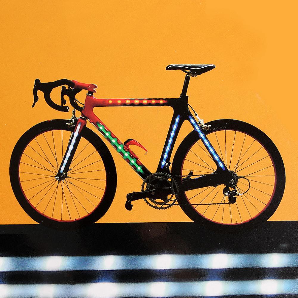 나비주 레어템 자전거 프레임 LED 라이트 바 휠라이트