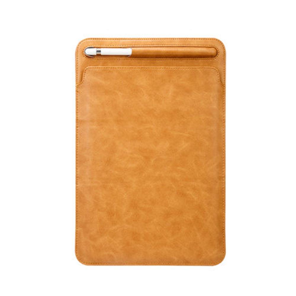 UNIQBLE 아이패드 프로 12.9인치 11인치 10.5인치 9.7인치 에어2 2세대 3세대 접이식 수납 가죽 슬리브 케이스 파우치 애플펜슬 터치펜 보관, C블랙