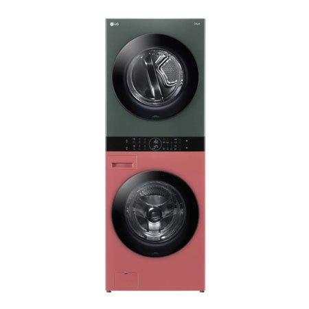 LG 워시타워 오브제컬렉션 W16DG.AKOR [세탁기24KG + 건조기16KG 원바디 플랫 디자인 원바디 런드리 컨트롤 건조 준비기능 드럼-네이처 레드우드 건조기-네이처 그린], W16DG