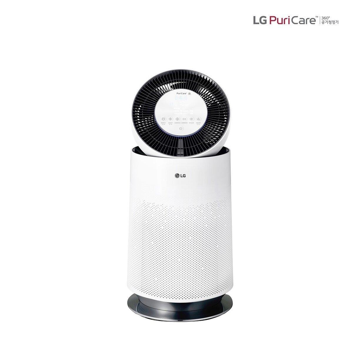 [신세계TV쇼핑][LG] 퓨리케어 360 공기청정기 싱글 AS180DWFC (58제곱미터/H13헤파필터), 단일상품