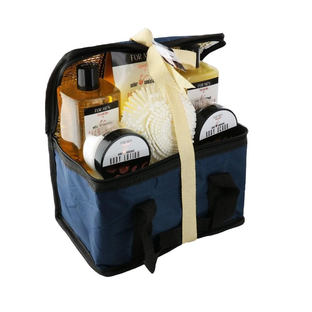 SpaLife Bath and Body Spa Gift Set 스파라이프 남성용 배쓰 바디케어 6종 기프트 세트, 1개
