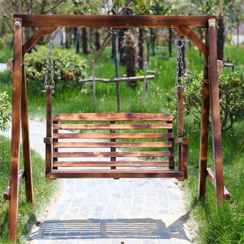 원목그네 야외용 그네의자 흔들 정원용 스윙 체어 해외직구 2DX2602, 사진색