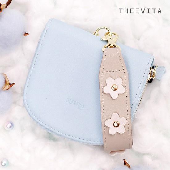 [더에비타]1+1 라피타Lapita 꽃 스트랩 반달 반지갑