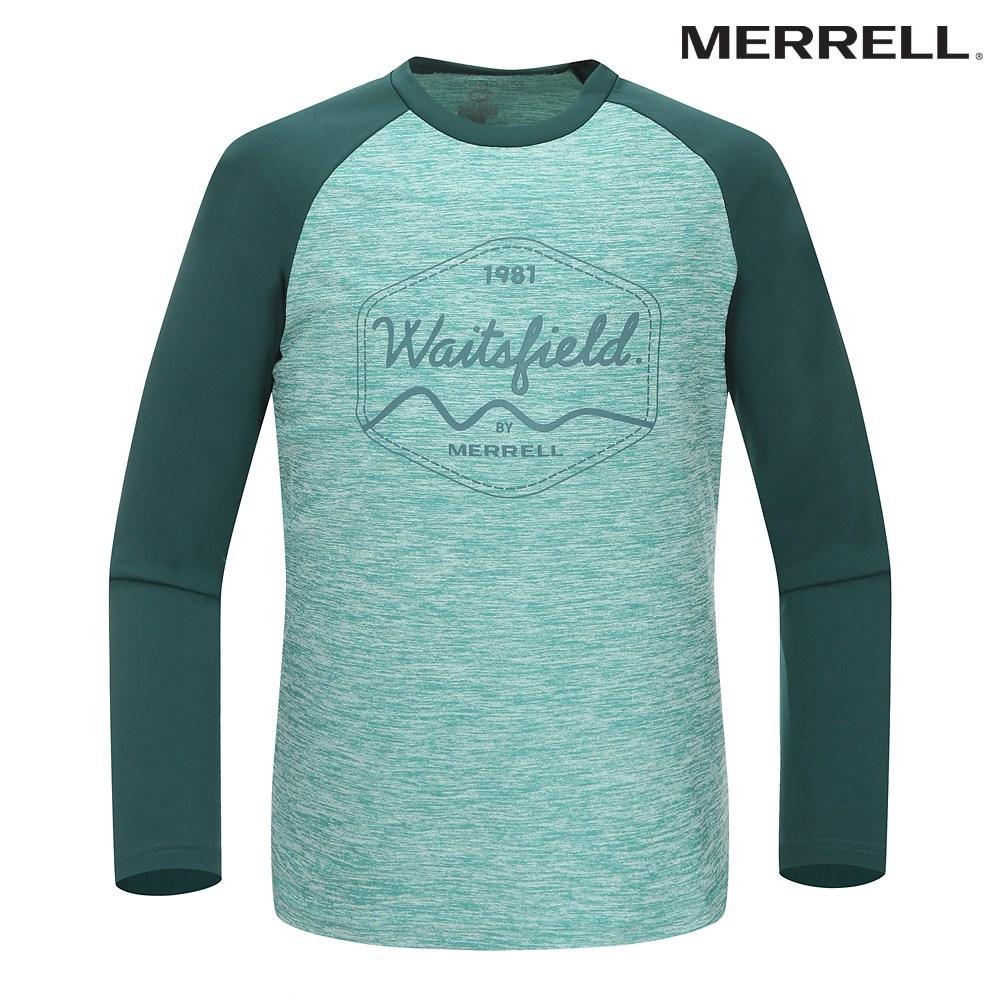 머렐 [머렐] 5217TR313 남성 나그란 배색 프린트 티셔츠