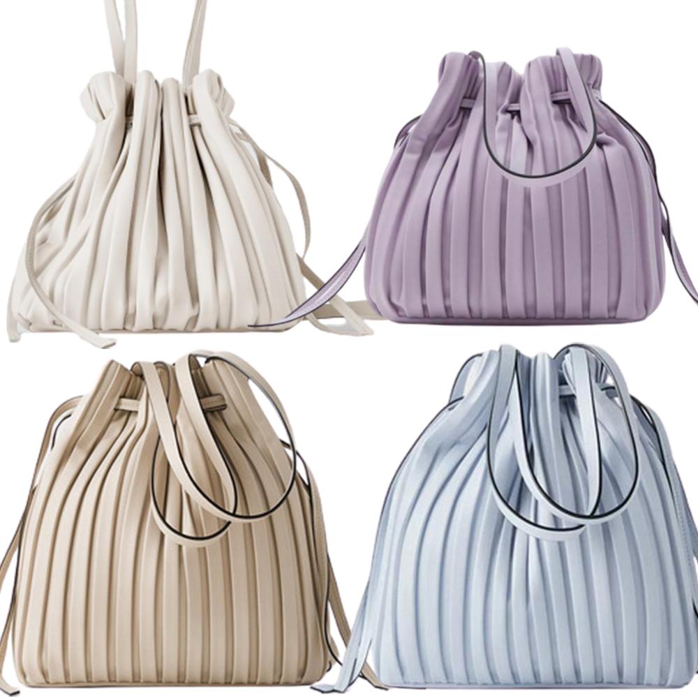 자라 플리츠 미니 버킷백 숄더 주름 복조리 백 가방 4종 색상