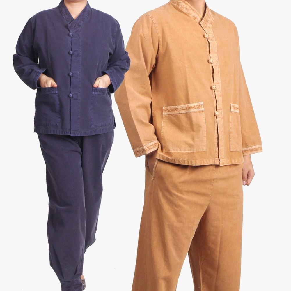 매듭우리옷 MC208_면20수 브이넥 저고리+바지 생활한복(개량한복)