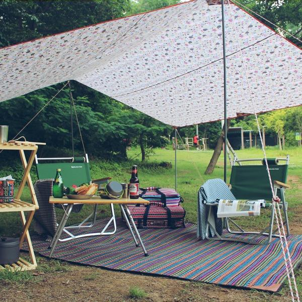 BUFFALO [BUCK703] 페어아일 캠핑매트 (특대/사이즈)/돗자리/텐트/러그/피크닉매트/냉기차단, (1p/특대)