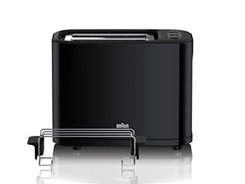 Tefal 토스토기브라운토스트기 HT 3010 BK 토스터 | 더블 슬롯 | 이동식 부스러기 트레이 | 예열 및 제상기능 | 7도 로스팅 | 별도의 롤 | 검정-47994, 단일옵션