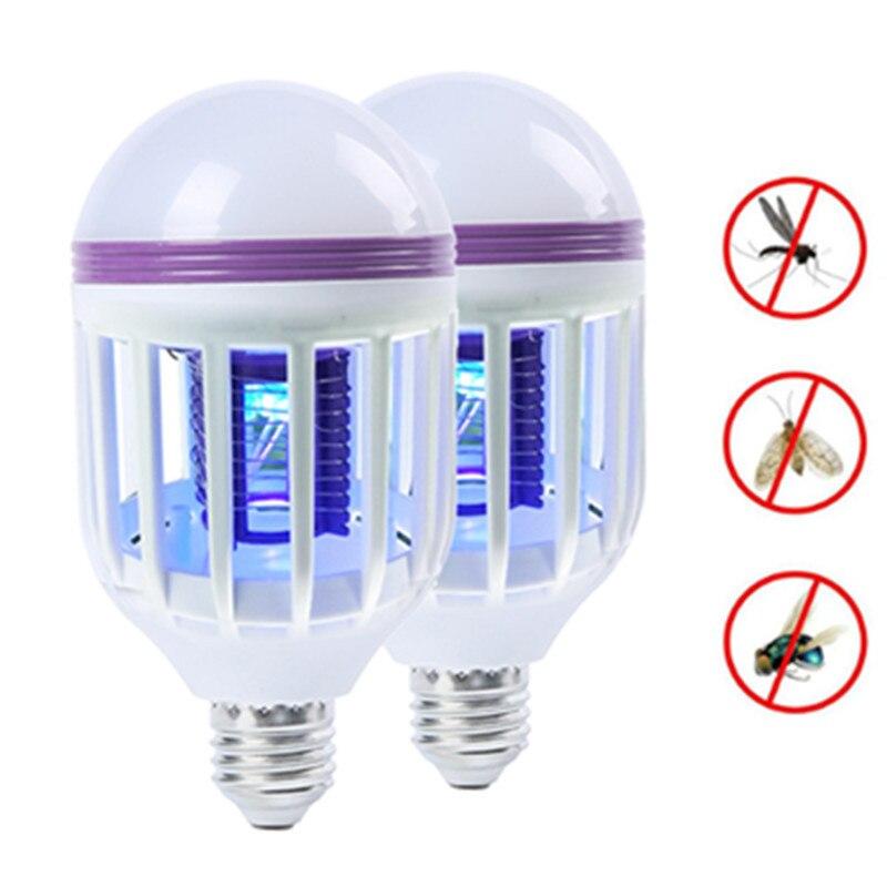LED 곤충 킬러 전구 E27 2 1 LED 공 빛 ANTI REPELLENT 비행 버그 ZAPPER UV 전구 220 V, 110V^+200
