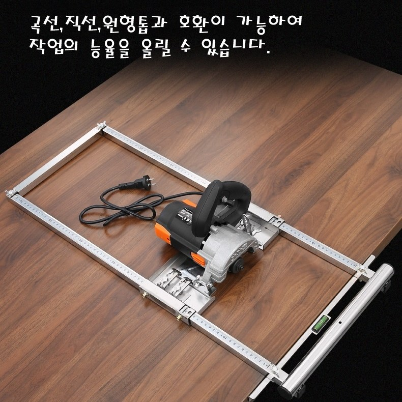 톱 전동 직선 조기대 테이블 쏘 클램프 가이드, 2개