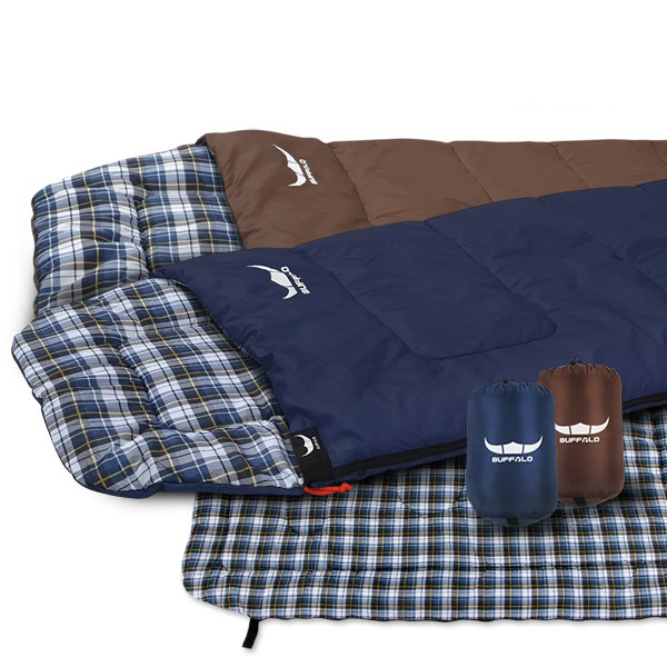 버팔로 침낭 코지침낭 사계절 낚시 사무실 캠핑용품, 코지 침낭/네이비