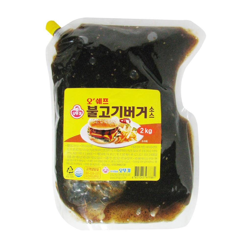 오쉐프 불고기버거소스_2kg(파우치), 1개, 2kg