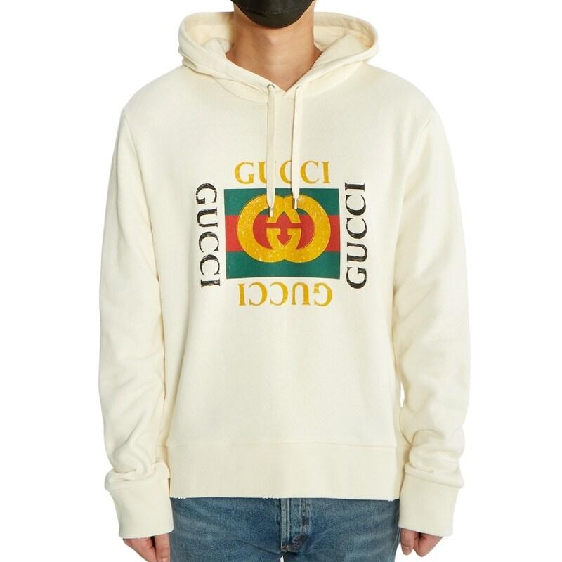 [Gucci]로고 오버사이즈 454585 X5J57 9541 남자 후드 긴팔 맨투맨 티셔츠