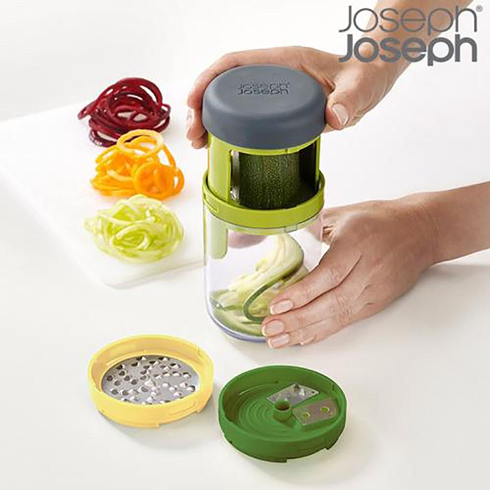 조셉조셉 스파이럴라이저(회전채칼) 건강한 채소면 만들기보관이 편리한 조셉조셉채칼, 그린, 1개
