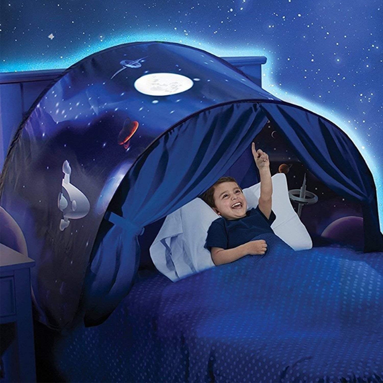 Dream Tent 루케 원터치 침대 텐트 난방 방한 방풍 수면 1인용아 아기 1인용 캐릭터 플레이하우스 볼풀장 애견 미니 놀이, 우주탐험