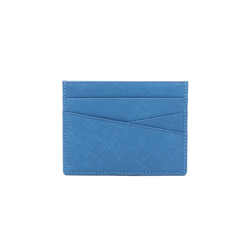 [마뜨] 이니셜 각인 사피아노 소가죽 심플 카드지갑