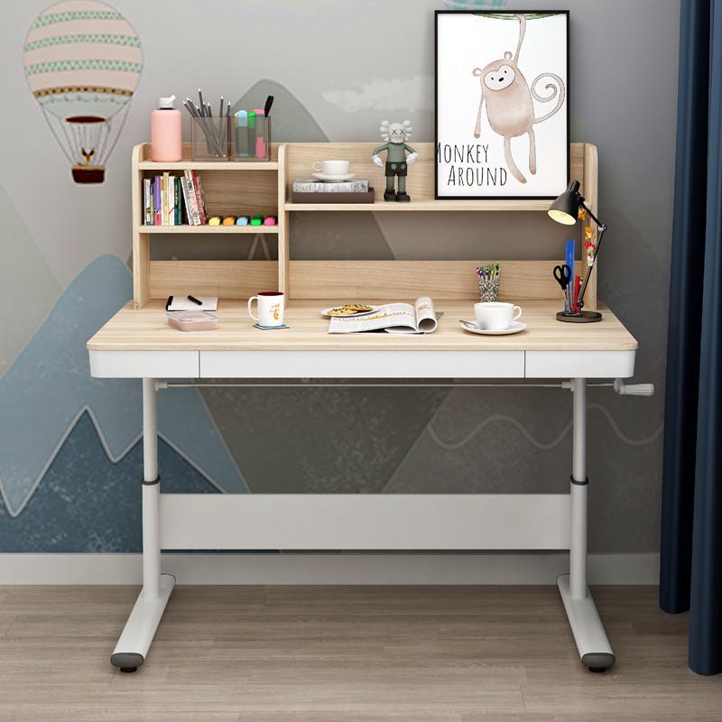 스탠딩 리프팅테이블 모션데스크 높낮이 조절 책상, 책장 길이 80 x폭 60- 메이플